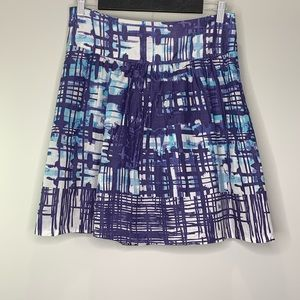 The Limited Purple Abstract Print Flare Skirt